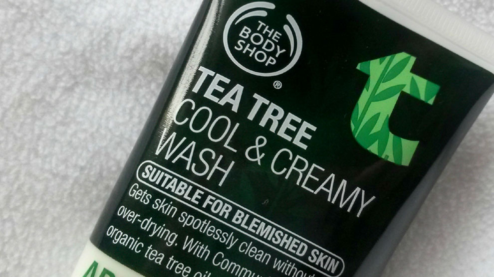 The Body Shop Tea Tree Cool & Creamy Wash (sumber: vanessataafe.wordpress.com)