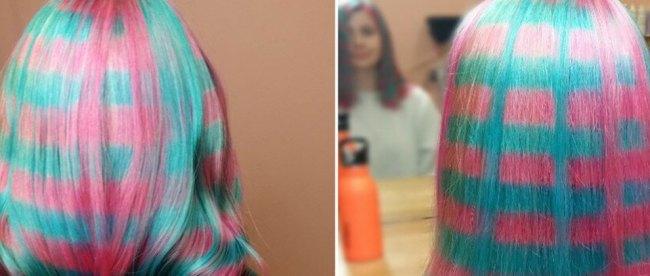 Warna Rambut Baru Motif Kotak-Kotak - www.allure.com