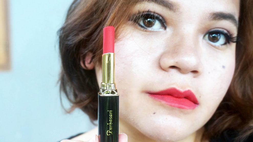Lipstik Purbasari No. 84 Ruby (sumber: mainharga.com)