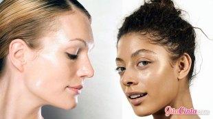 Ilustrasi: wanita dengan kulit berminyak