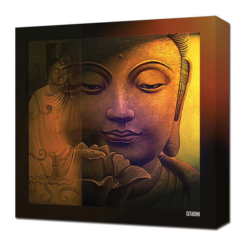Canvas Wall Art  Buddha Collage