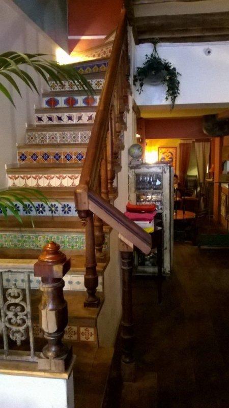 The staircase at Distrito Frances