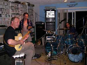 Andrzej during jam session with musicians from Victoria, Canada, 2004