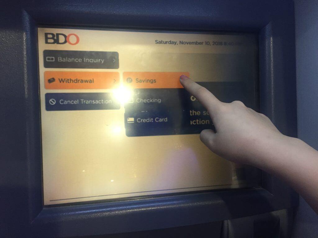 フィリピン留学GITC ATM BDO