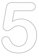 Coloring-Pages-of-Number-5