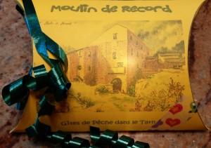 Chèque cadeau séjour au Moulin de Record