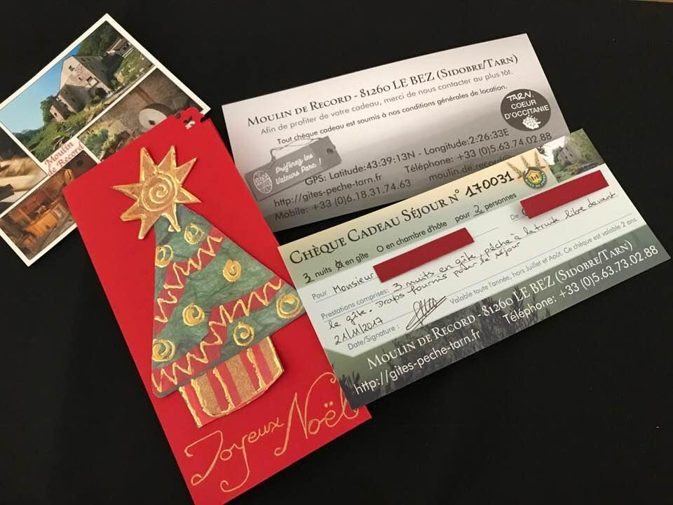 Une carte cadeau pour Noël