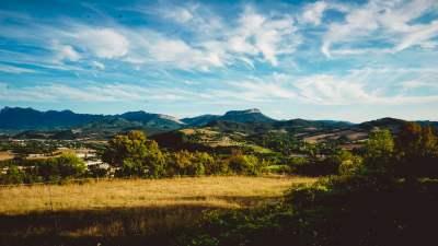 Drôme provençale vue de crest
