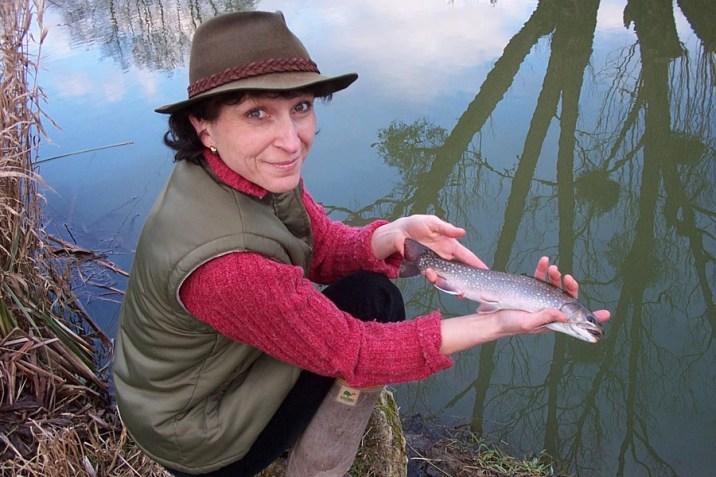 Anna à la pêche