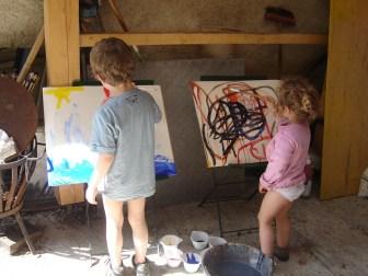 Initiation à la peinture pour les enfants