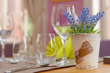La décoration de table choisie avec soin par Nathalie