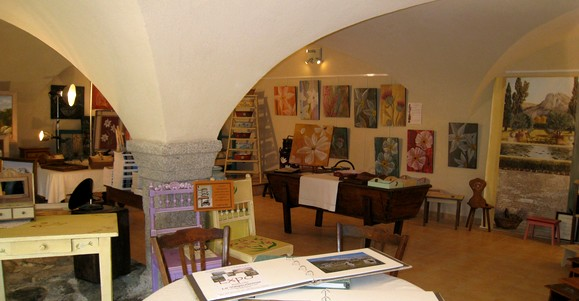 L'atelier de peinture de Catherine