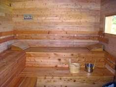 L'intérieur du sauna