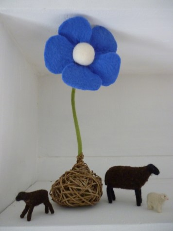 Fleur en feutre