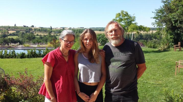 Brigitte, sa fille et son mari