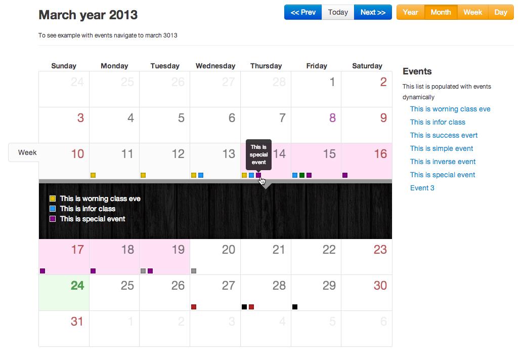 Jquery Calendar Example | Easy Calendar Maker Free Download
