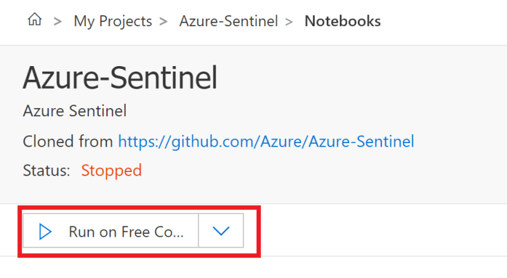 The Run on Free Azure is button is highlighted
