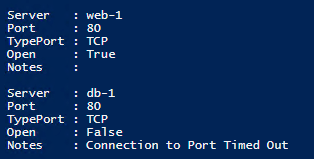 The information above for port 80 (HTTP) is visible after running the script and pressing F5.