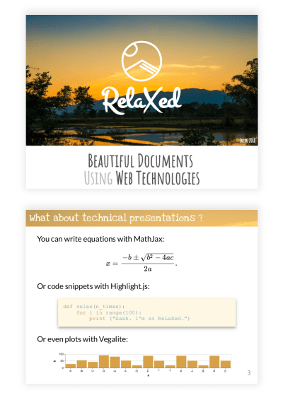 ReLaXed Creates PDF Documents Interactively Using HTML