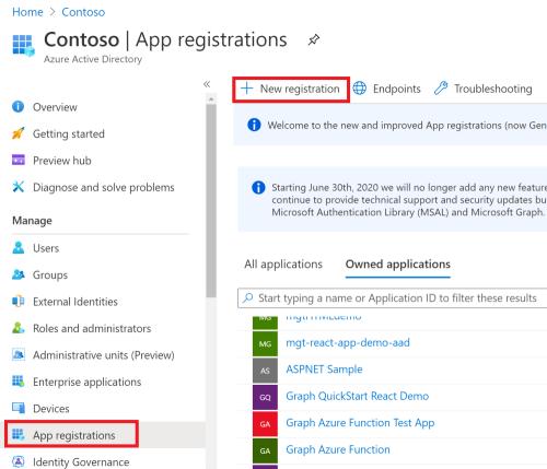Azure Active Directory App Registration