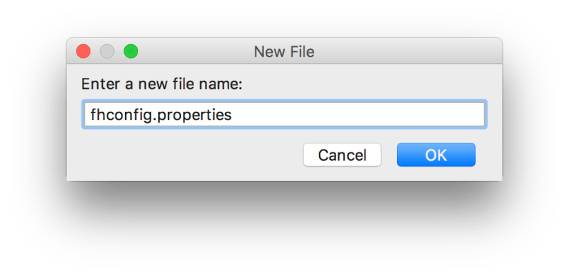 Naming the configuration file