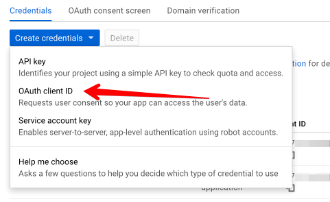 Create OAuth Client Credentials