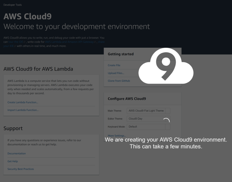 Cloud9 Environment Creation
