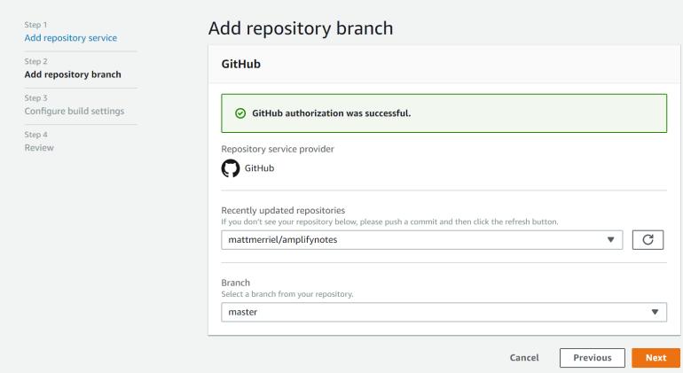 Add Repository Branch