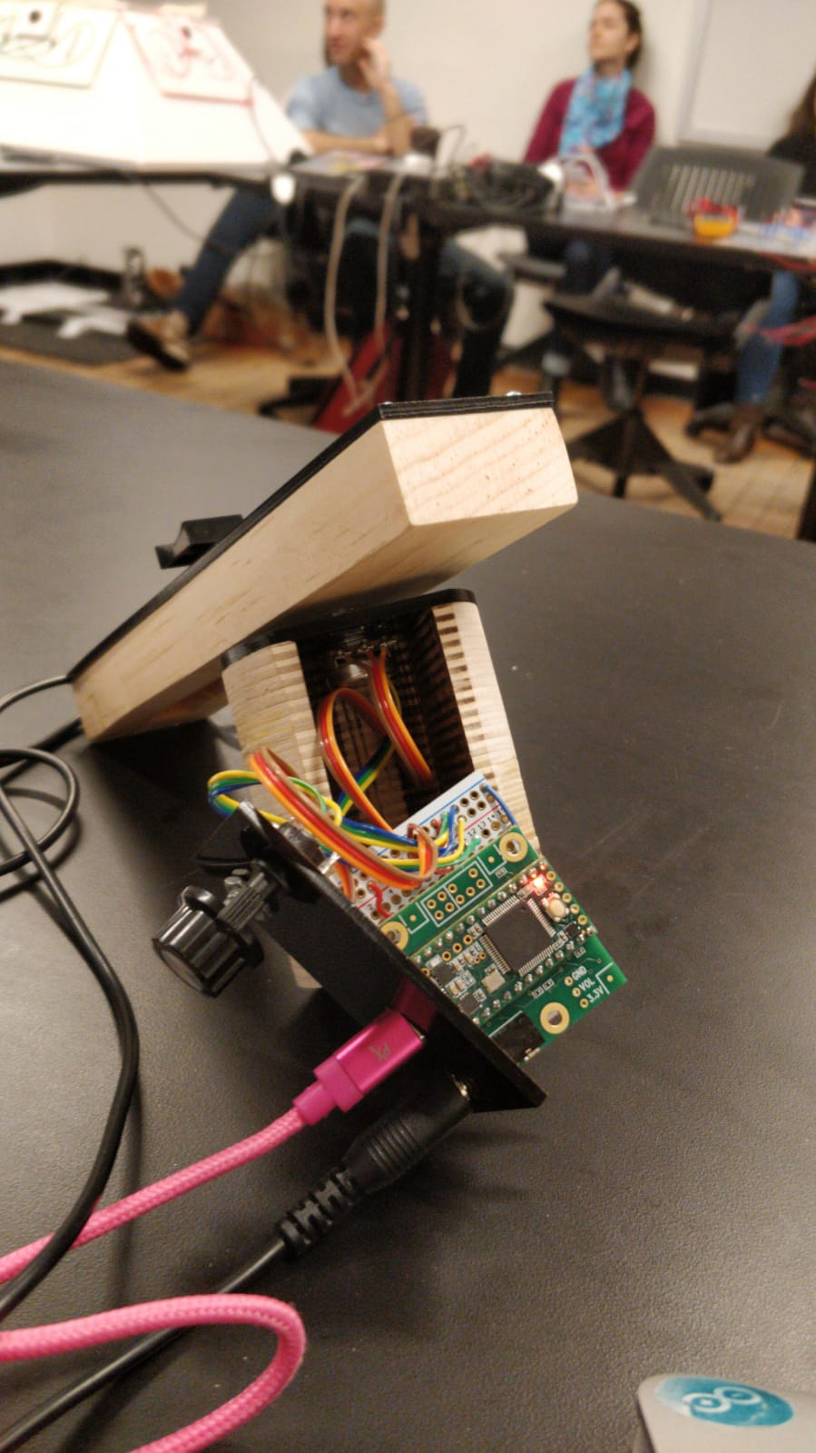 Assembled instrument with the circuit board