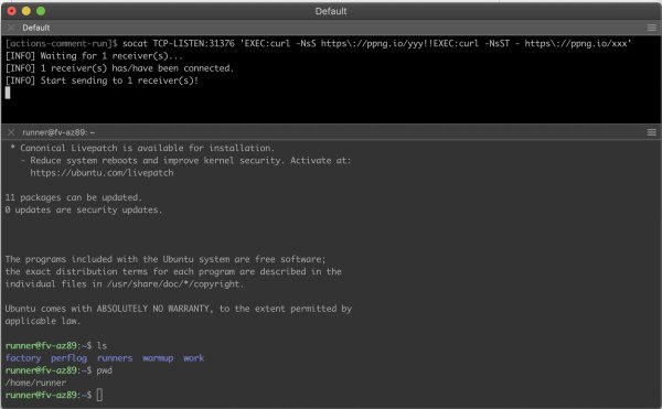 SSH over Piping Server terminal