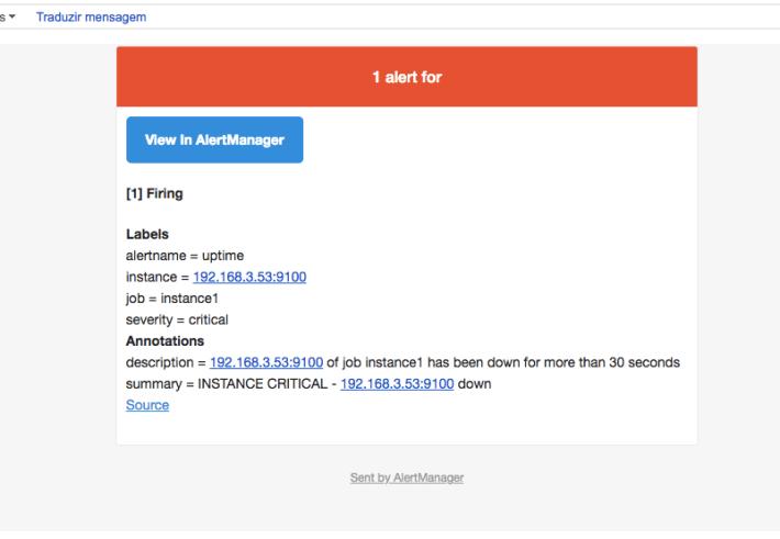 Alerta - Email