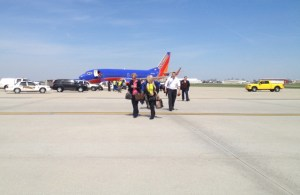 Deplaning in Indianapolis
