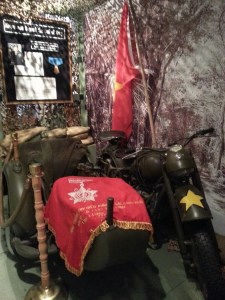Pictured: Motorcycle used in the Vietnam War.
