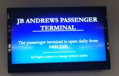 Arrival at Andrews