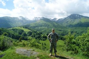 Myself in the Shar Mountains National Park in southern Kosovo in 2011.