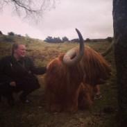 Gitta and Highland Cow