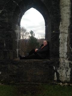 Gitta at McCaig's Tower