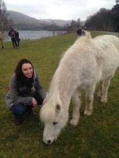 Kayla and White Pony