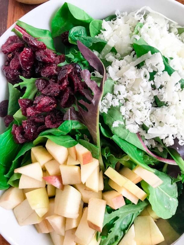 Apple Salad Ingredients on the Salad