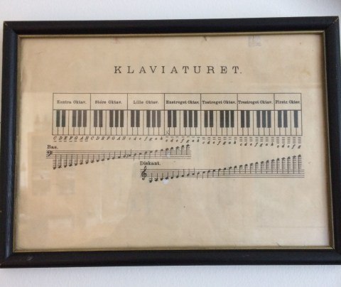 Klaverspil øvet ud fra denne side, der engang sad i mit første nodehæfte.