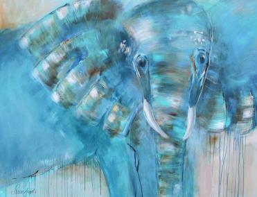 Glad elefant