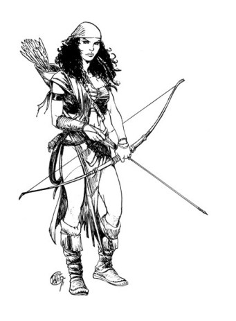 Il disegno originale realizzato per la quarda di copertina della serie Kriss De Valnor