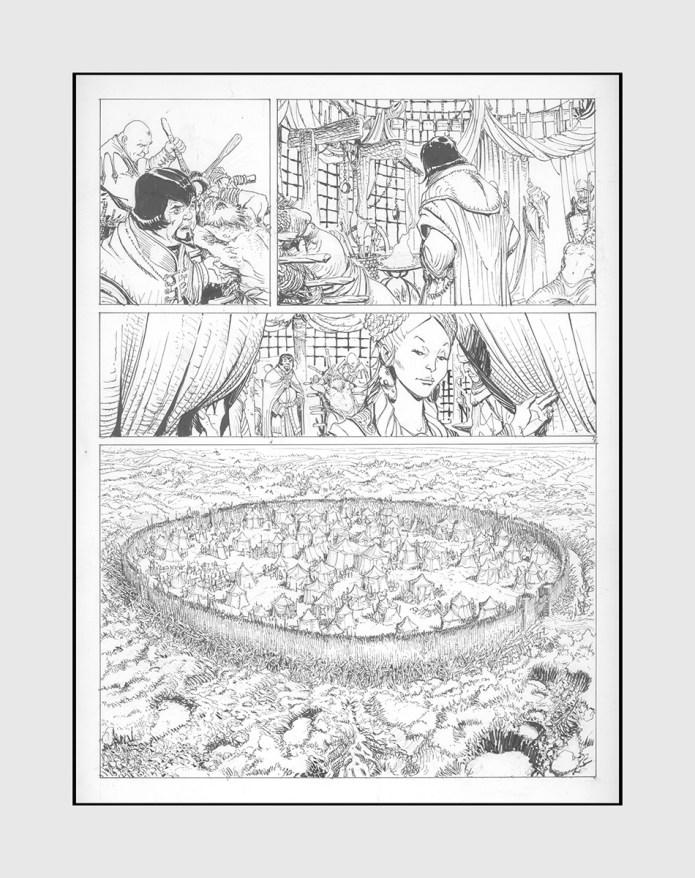 Dessin original de Giulio De Vita pour Kriss de Valnor 5 les Mondes de Thorgal planche 7