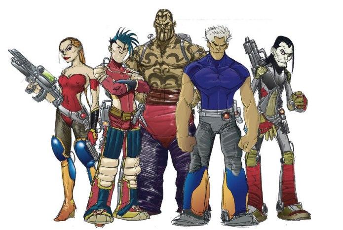 villains crew concept for Disney's comic book serie Kylion by Giulio De Vita 2006