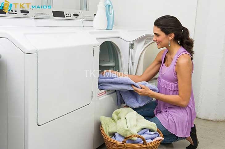 cách giặt quần áo bằng máy