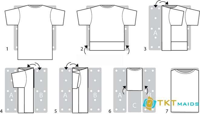 Hình ảnh: Hướng dẫn gấp áo phông