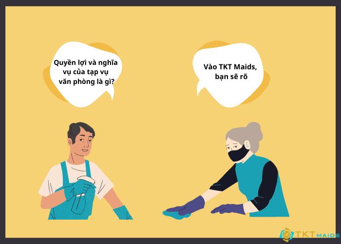 Quyền và nghĩa vụ của nhân viên TKT Maids