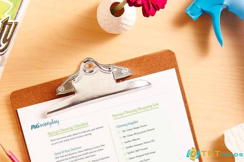 Mẫu checklist công việc vệ sinh