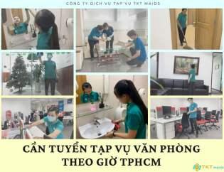 Cần tuyển tạp vụ văn phòng theo giờ TPHCM