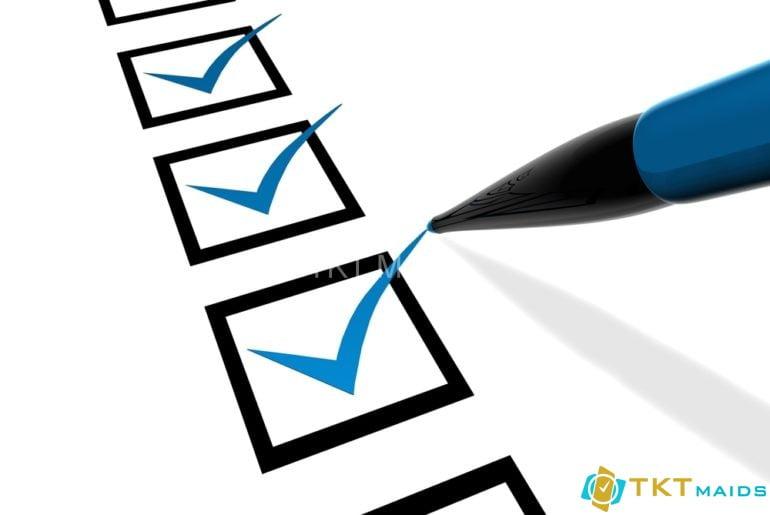 Tạo checklist công việc tổng vệ sinh văn phòng